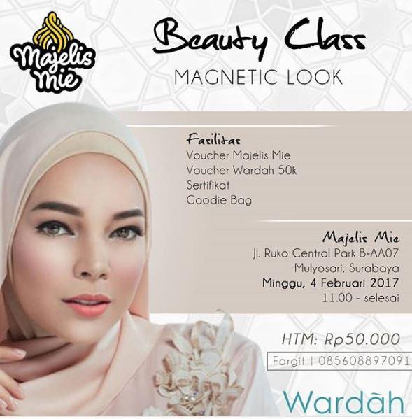 poster beauty class wardah